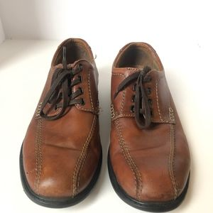 Clarks Brown Lace Up Oxford Casual Business 9.5 M